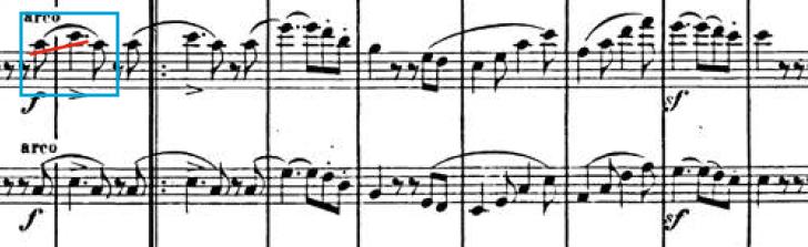 Primer tema, Sinfonía Italiana (F. Mendelssohn)