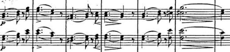 Segundo tema, Sinfonía Italiana (F. Mendelssohn)