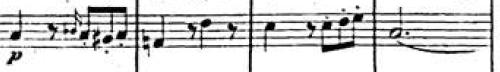 Tercer tema, Sinfonía Italiana (F. Mendelssohn)