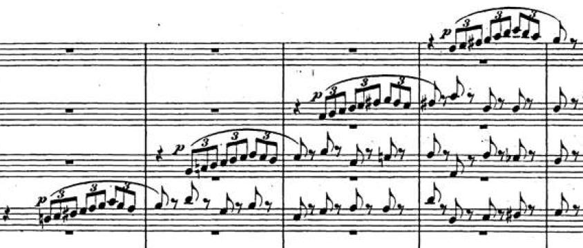 Relevo temático en las maderas, Sinfonía Italiana (F. Mendelssohn)