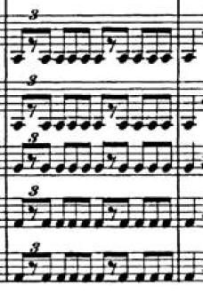 Pie de saltarello, Sinfonía Italiana (F. Mendelssohn)