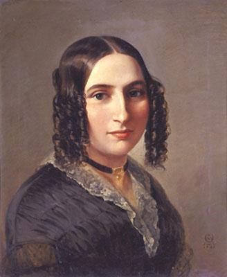 Fanny Mendelssohn-Hensel, por Moritz Daniel Oppenheim (1842)