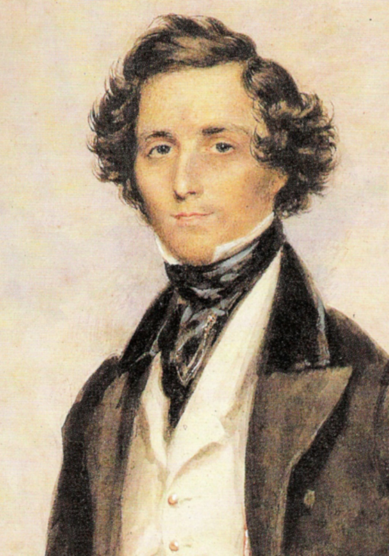 Felix Mendelssohn, por James Warren Childe (ca. 1829)