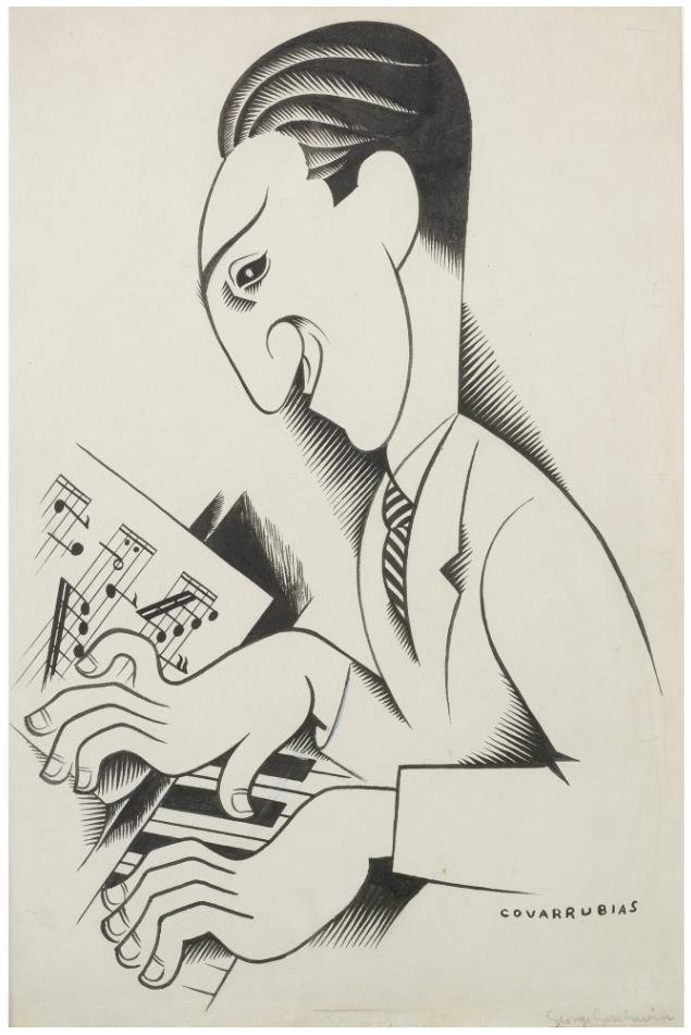 George Gershwin por Miguel Covarrubias