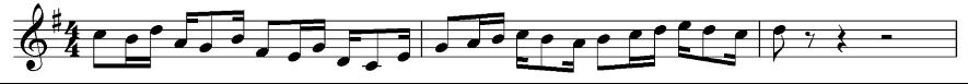 Diseño rítmico, tercer episodio