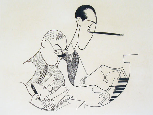 George e Ira Gershwin por Hirschfeld